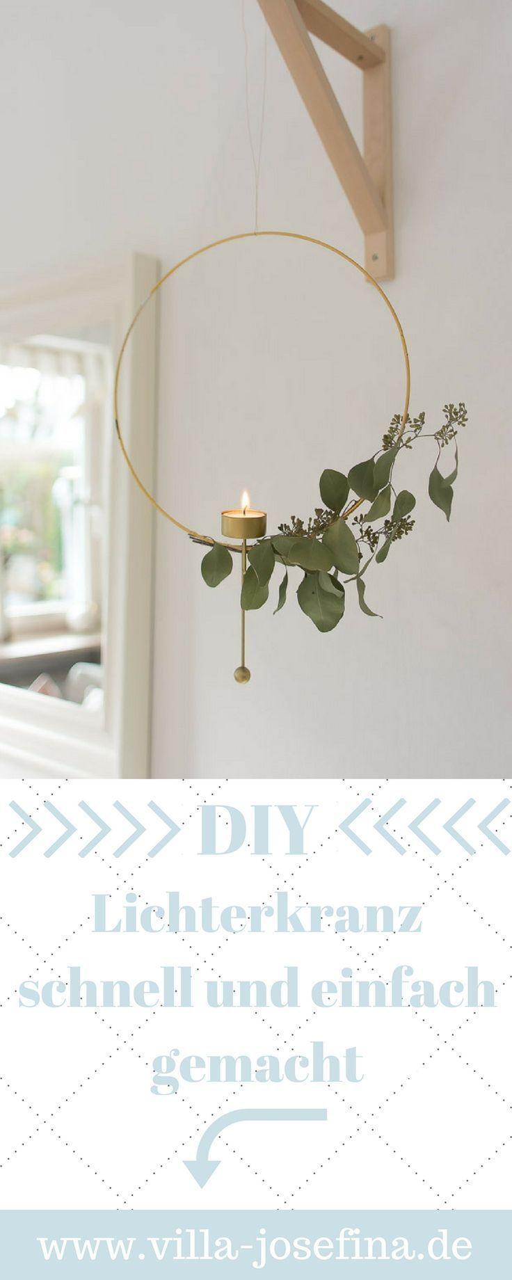 Selbstgemacht: schnelles DIY Lichterkranz