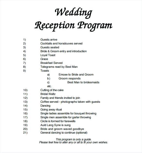 Image Result For Wedding Programs Examples Wedding Reception Program Wedding Program Template Free Printable Wedding Programs