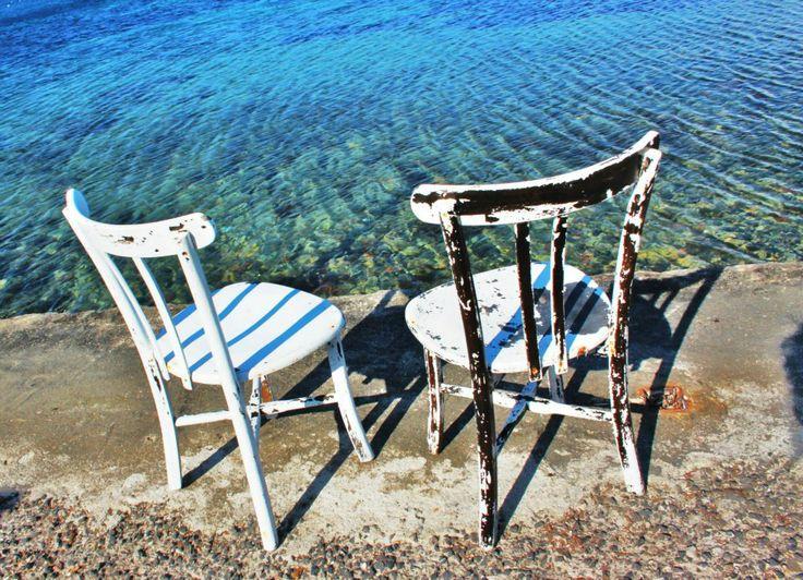 #İSKELE #URLA #MAVİ #DENİZ #SANDALYELER #BLUE  #SEA #CHAİRS
