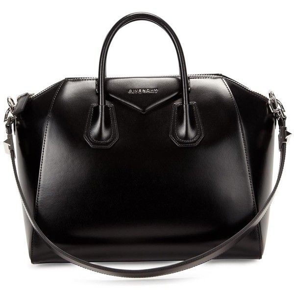 Womens Shoulder Bags Givenchy Antigona Medium Black Leather Tote (9,410 MYR) ❤ liked on Polyvore featuring bags, handbags, tote bags, bolsas, purses, black tote, leather purse, genuine leather tote, zippered tote bag and black zipper tote