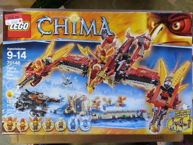 LEGO 70146 Legends of Chima Flying Phoenix Fire Temple MINT SEALED  #LEGO
