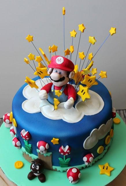 Super Mario Bros Cake Exploding