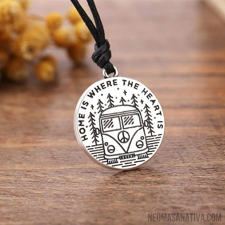 Home is Where the Heart is Round Pendant Necklace