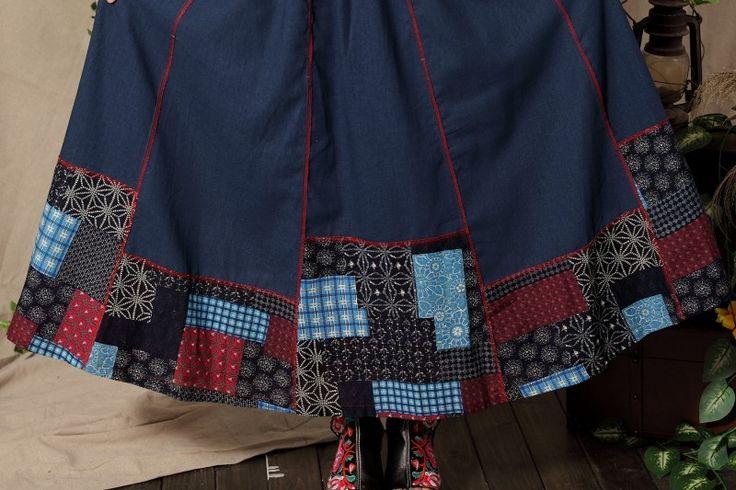 Японский стиль мори девушка этническая лодыжки длина темно синий лоскутное макси юбка старинные богемный богемный maxiskirt longuette, принадлежащий категории Юбки и относящийся к Одежда и аксессуары для женщин на сайте AliExpress.com | Alibaba Group
