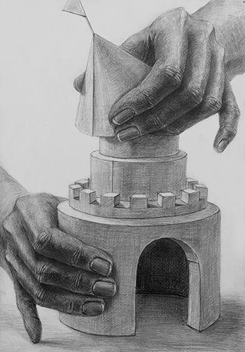 2013年度 多摩美術大学 グラフィックデザイン学科 現役合格者再現作品:デッサン