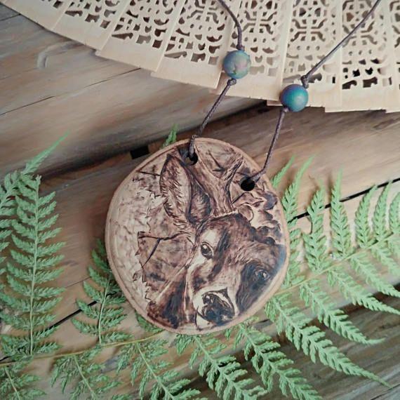 deer jewelry wooden Christmas gift.