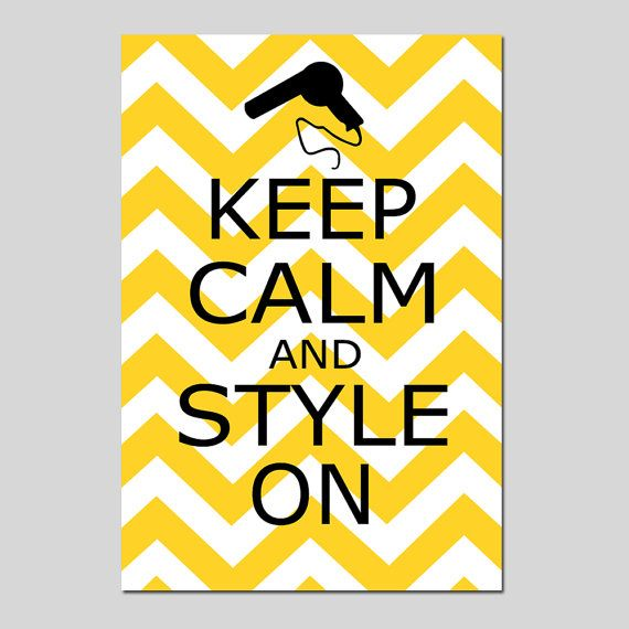 Keep Calm and Style On  11x17 Chevron Quote Print  by Tessyla