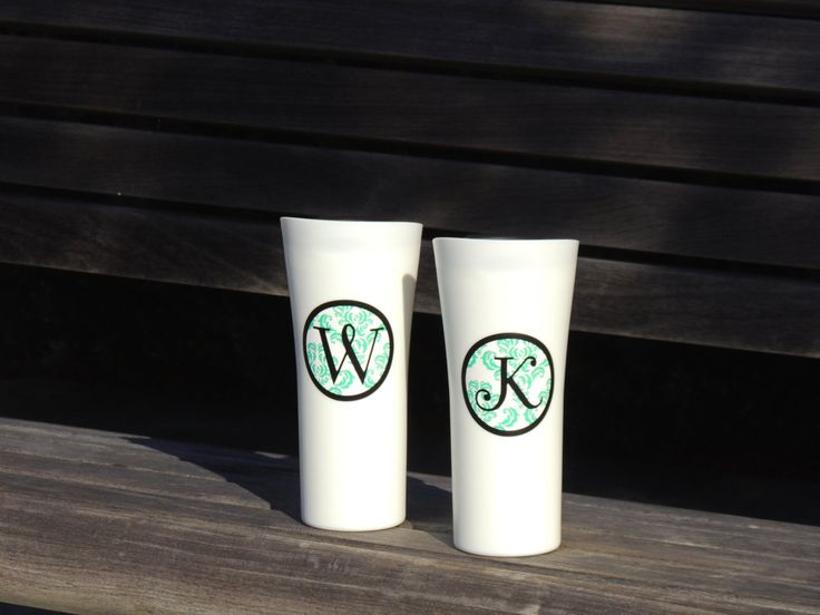 insulated coffee cup, plastic coffee cup, monogrammed cup, stocking stuffer, black tumbler, coffee tumbler, holiday gift, personalized cup by ShopAroundTheCorner3 on Etsy