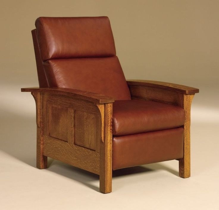 Amish Mission Arts and Crafts Recliner Chair Heartland Panel Solid Wood Leather & Best 25+ Craftsman recliner chairs ideas on Pinterest | Craftsman ... islam-shia.org