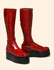David Bowie's Glam red platform boots from Ziggy Stardust and Aladdin Sane.