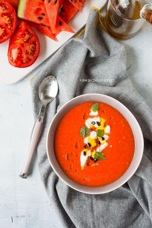 Gazpacho arbuzowo-pomidorowe
