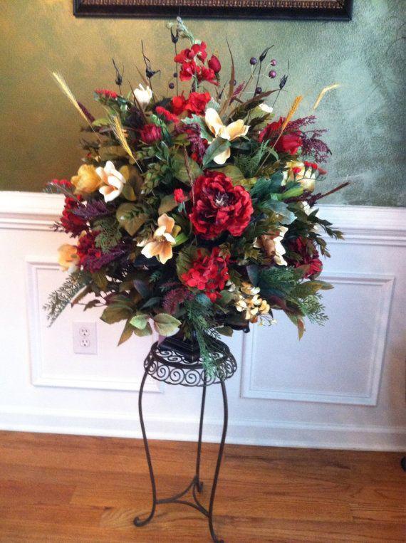 701 best home decor floral arrangements images on for Dining room flower arrangements