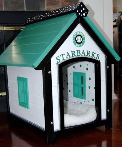 How cool is this dog house. Starbarks Dog house on The Dreaming Of page of www.reallyusefulgirl.com