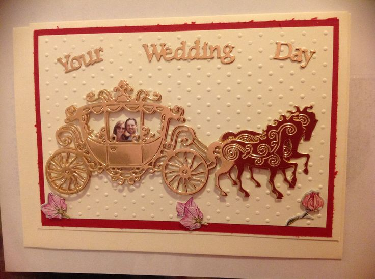 #Wedding card using foil card stock