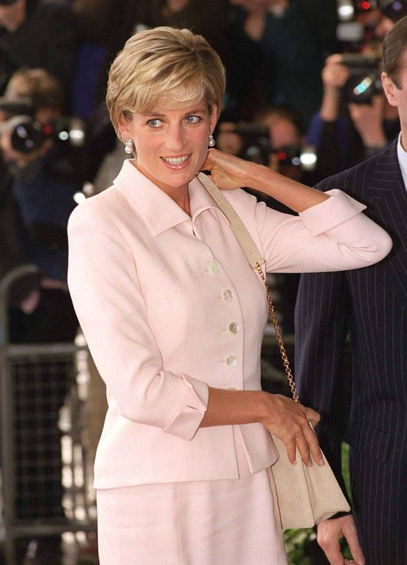 Diana in a pink Catherine Walker suit