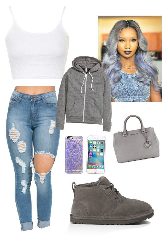 Im so wavey by jahnya ❤ liked on Polyvore featuring Topshop, UGG Australia, Mi…