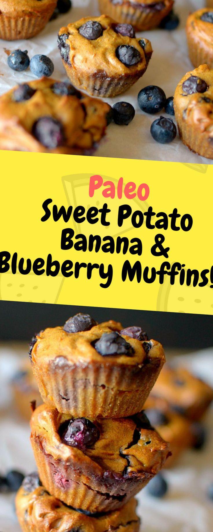 Paleo Sweet Potato Banana & Blueberry Muffins – One of food
