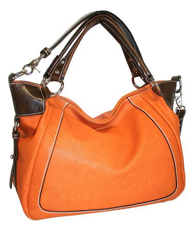 Look what I found on #zulily! Burnt Orange Open Sez Me Satchel #zulilyfinds