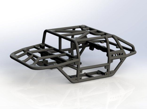 Scorpion v1 1/24th scale rock crawler chassis by Fungi