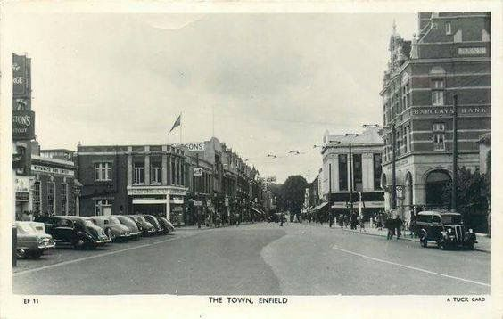 Enfield Town about 1950.