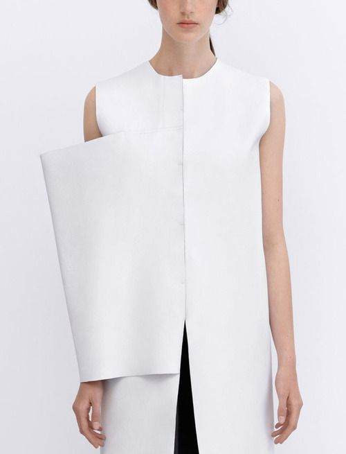 White Minimal Fashion with clean silhouette & structure; fashion details // J.W. Anderson