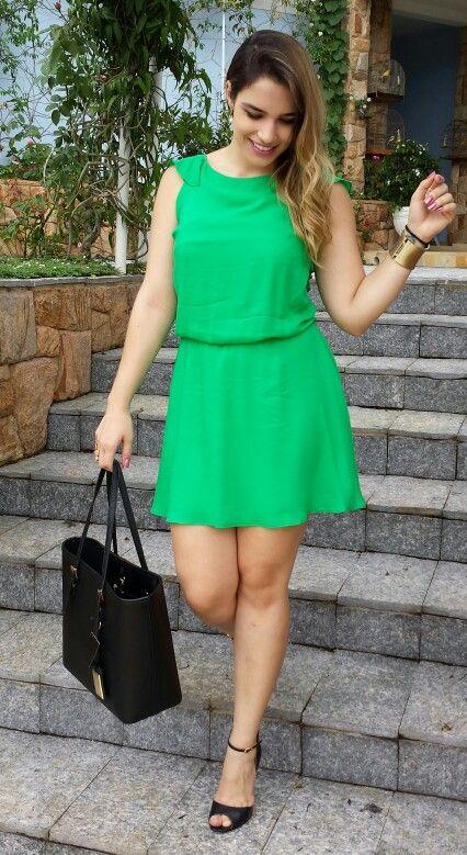 #Style #ModaFeminina #Dress #Dresses #Green #Verde #Moda #Estilo #Thenácy #Vestido #Love #Thenácy