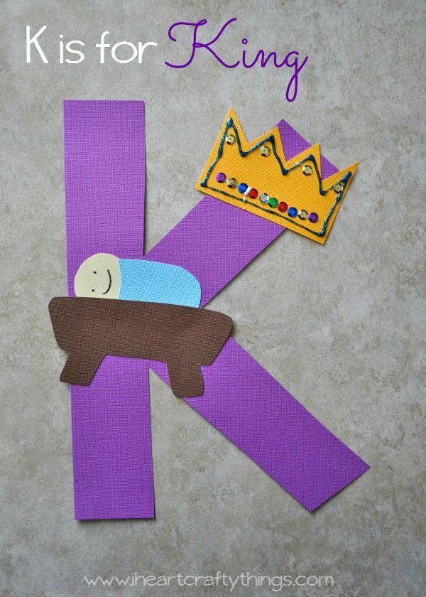 K Is For King Alphabet Craft Preschool Letter Crafts Alphabet