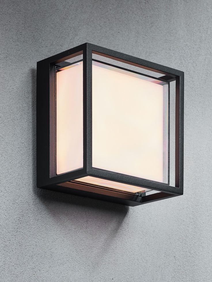 LEDlux Gunn Cage 10W IP54 LED Black Bunker Light in Warm White