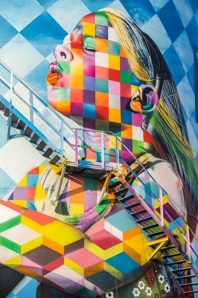 Eduardo Kobra #streetart jd
