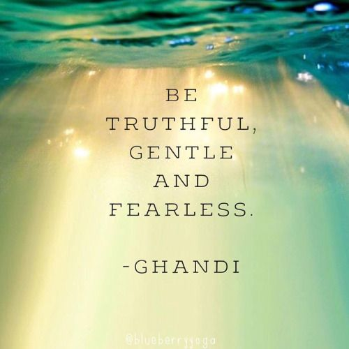 Be truthful....