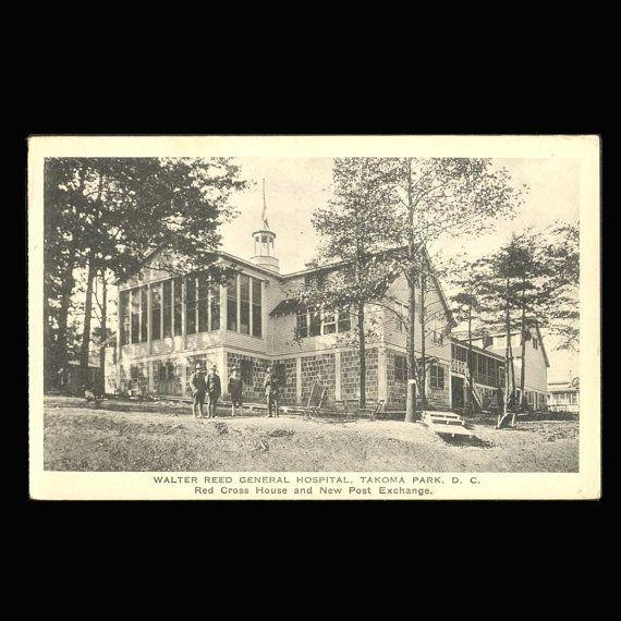 Vintage Postcard Walter Reed General Hospital by JMCVintagecards