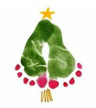 Preschool Crafts for Kids*: Christmas Tree Footprint Craft