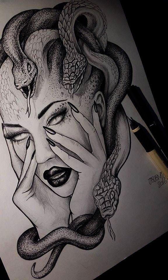 Medusa Zeichnung Illustration Tattoo Idee # jelena…