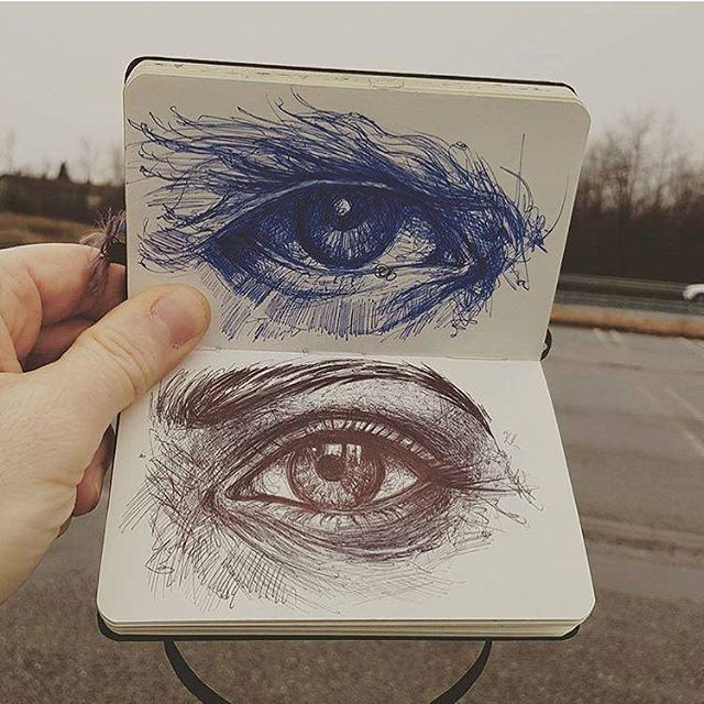 Top or Bottem? By: @davide_drawing - - what you guys think about this (tag your friends) - - - Follow @lookandwow For More #eyedrawing #eyeart #eye #pencildrawing #paper