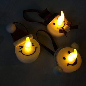 100均DIY♪ダイソーのLEDキャンドルライトで簡単可愛い【雪だるまライト】【ナチュラルキャンドル】の作り方♪おしゃれなクリスマス飾りを子供と工作&手作りしよう♪
