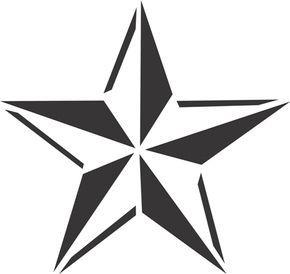 Star Stencil Designs Nautical star - airbrush tattoos - island tribal ...