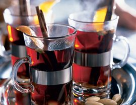 This bracing Swedish punch gets its kick from aquavit, a potent, potato-based liquor. The wine must steep with the spices for at least 12 hours before drinking, so begin your glögg a day ahead.