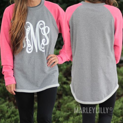 Check out this #Personalized Raglan Sweatshirt Tunic- Perfect with leggings and boots!