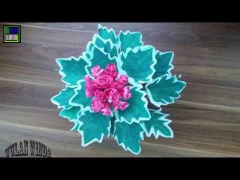 Diy Bunga Daun Jala Dari Pastik Kresek Sangat Indah Dan Menawan