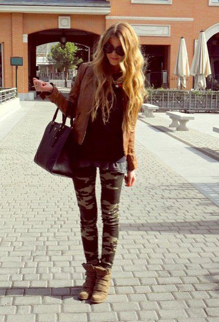 I hate camouflage but I really like this... Once again wedge sneakers.