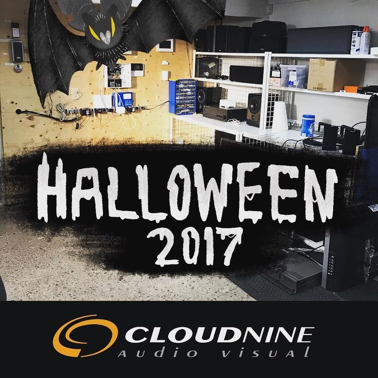 Happy Halloween from the scary cloud 9 av test bench area. Where the ghosts of the past find new life.  #scaryavstuff #audiovisual #leaside