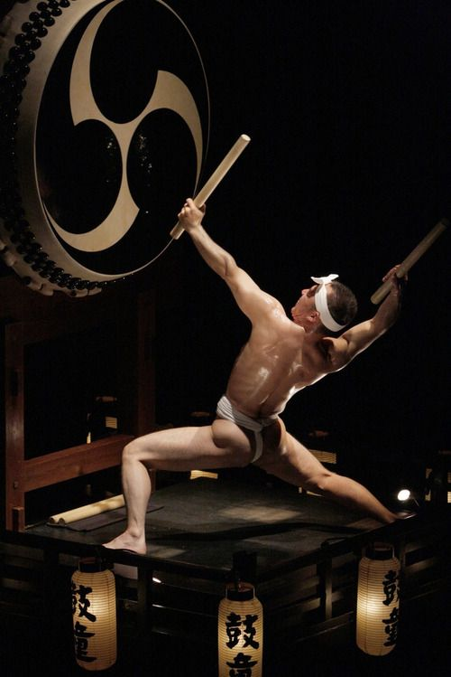 Fierce drumming at a Japanese festival.  Image via Pinterest
