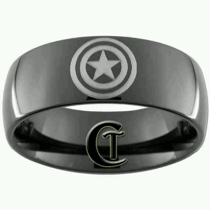 captain america mens wedding band