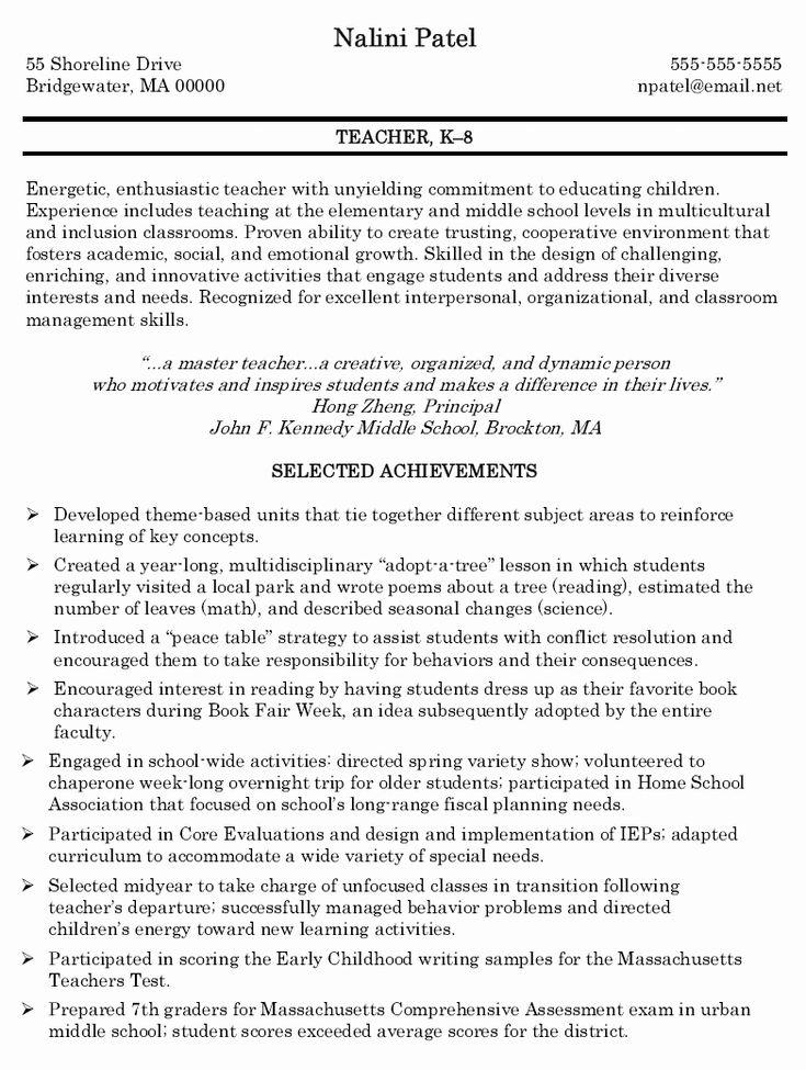 23 substitute teacher resume description in 2020