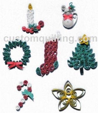 Christmas Collection Quilling Kit www.customquilling.com