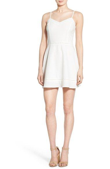 Cream and Sugar Skater Dress available at #Nordstrom