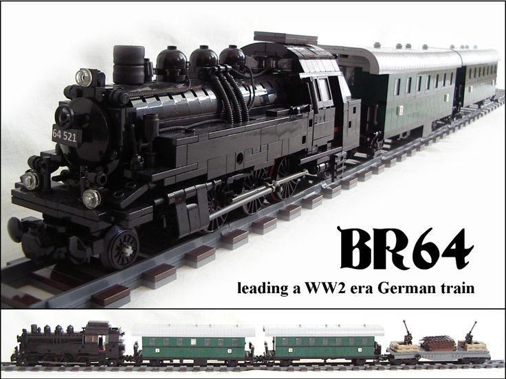 br64 german tank steam locomotive with ww2 era train by piglet ciamek on flickr lego. Black Bedroom Furniture Sets. Home Design Ideas