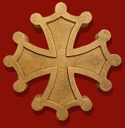 #Sceau #Croix #occitane (La croix occitane (crotz occitana), croix du #Languedoc ou croix de #Toulouse en héraldique est un type de croix qui sert d'emblème à l'Occitanie)
