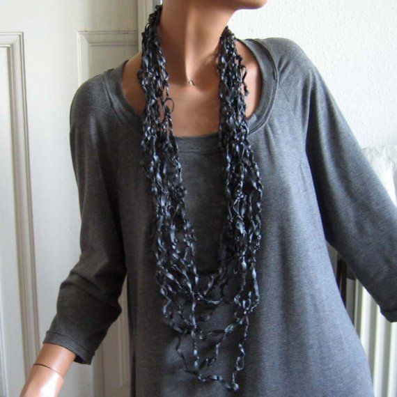 Bike inner tube jewelry long necklace or bracelet door palepink