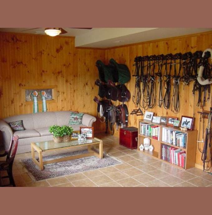 I Like That There Are Book Shelves In The Tack Room.